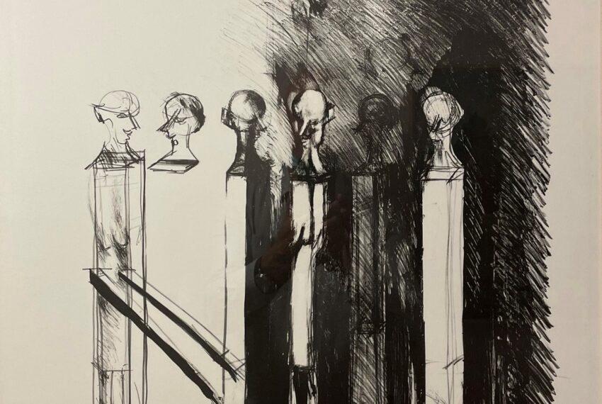 Hutter 2018 in Sarnen. Von der Krankheit gezeichnet, sagt er: «Diese Ausstellung ist wohl meine letzte.»